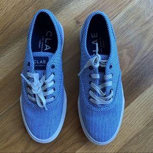 CLAE August shoe in navy/white denim